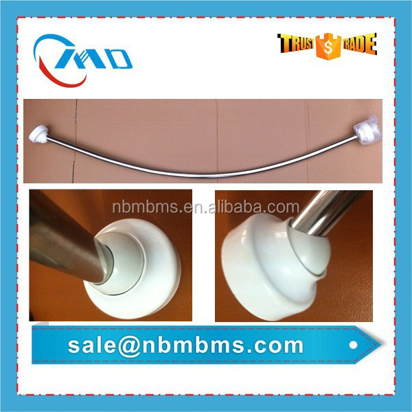 180 Degree Rotation Curved Shower Rod