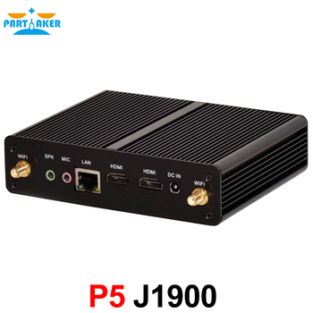 New Celeron J1900 Mini PC Quad Core Fanless PC With Lan HD Support Win 10/ win 7/Linux/Ubuntu