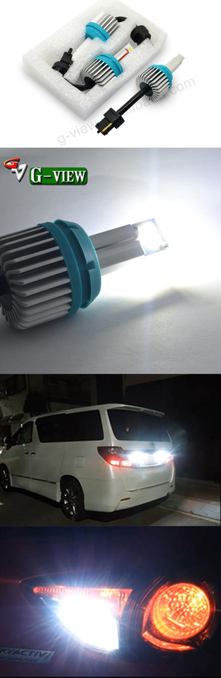Superbright 1200lm 9 pcs CSP chip T20 7440 auto led light reversing car light bulb