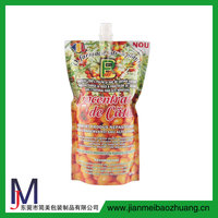 Custom stand up spout pouch/liquid stand up pouch with spout for juice/High quality plastic bag