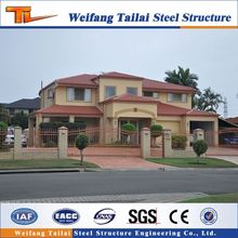 construction professional light steel structure villa style small house