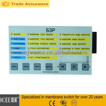 Hot selling transparent window switch keyboard custom self adhesive graphic overlay foil keyboard