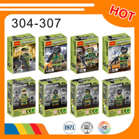 hot educational toys decool 304-307 blocks special forces blocks