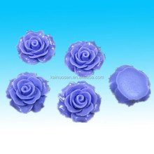 DIY purple Resin Rose flower flatback wedding craft