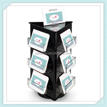 Gift card acrylic rotating 3 side display stand /card holder shelf /acrylic display of name card ,gift card