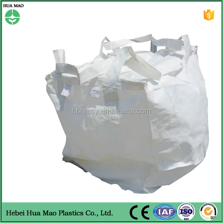 high quality 1000kg/2000kg pp bulk bag with four lifting loops for sand,bitumen,building material