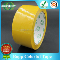 Alibaba China Packing Adhesive Tape Manufacturer Supplies Yellow Bopp Colored Tape With Custom Size 39/42/45/48/50mic