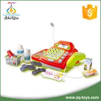 Children preschool toy cash register with scanner