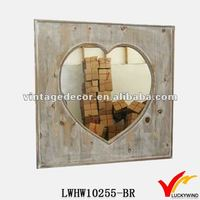 luckywind distressed finish novelty wooden mirror