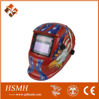 welding Helmet! 2014 new design welding mask both lithium batteries and solar cell safety auto darkening welding helmet