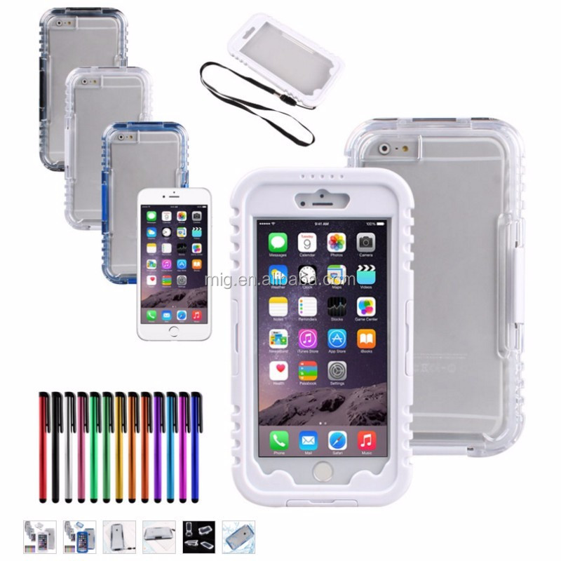 For Apple iPhone 6 6s Plus Waterproof Shockproof Dirt Snow Proof Durable cell phone Case 360 full protective cover