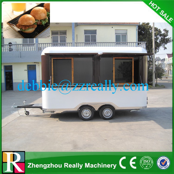 4m New model mobile BBQ food trailer for sale fast BBQ food trailer with wheels new BBQ food trailer vending