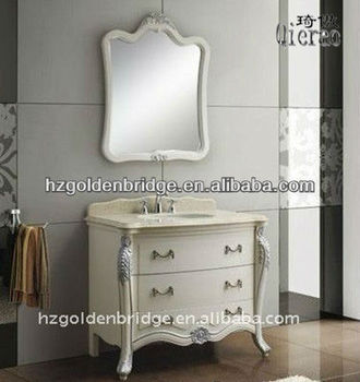 White classic Bathroom Furniture with countertop GB1011