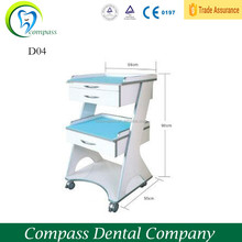 Single mobile durable dental furniture cabinet with two drawers