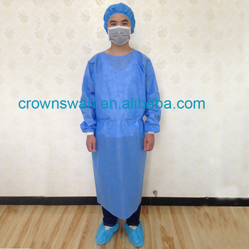 Disposable Isolation Surgical Gowns, Disposable CPE/PE Plastic Formal Gown Medical