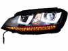 Cool designVolkswagen Golf7 modified headlamp with LED DRL 12 voltage 2014year double U design