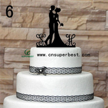 Chinese Manufacturers Acrylic Wedding Cake Topper/Wedding Decorations