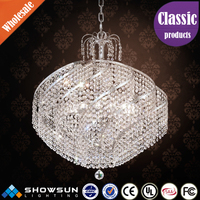 Zhongshan beaded home decoration round crystal pendant lamp