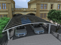 Aluminium carport with arched roof HX114