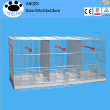 White color metal canary breeding cage bird parrot