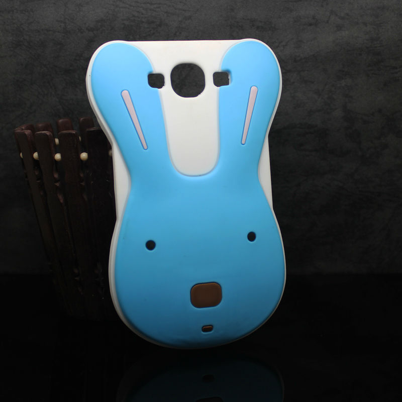Rabbit shape 3D stereoscopic silicon case for samsung galaxy grand duos i9082