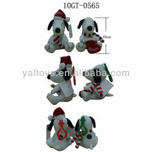 Cute! Licensed Plush toys ! Plush Snoopy Keychain with Xmas hat and sock! Best price!