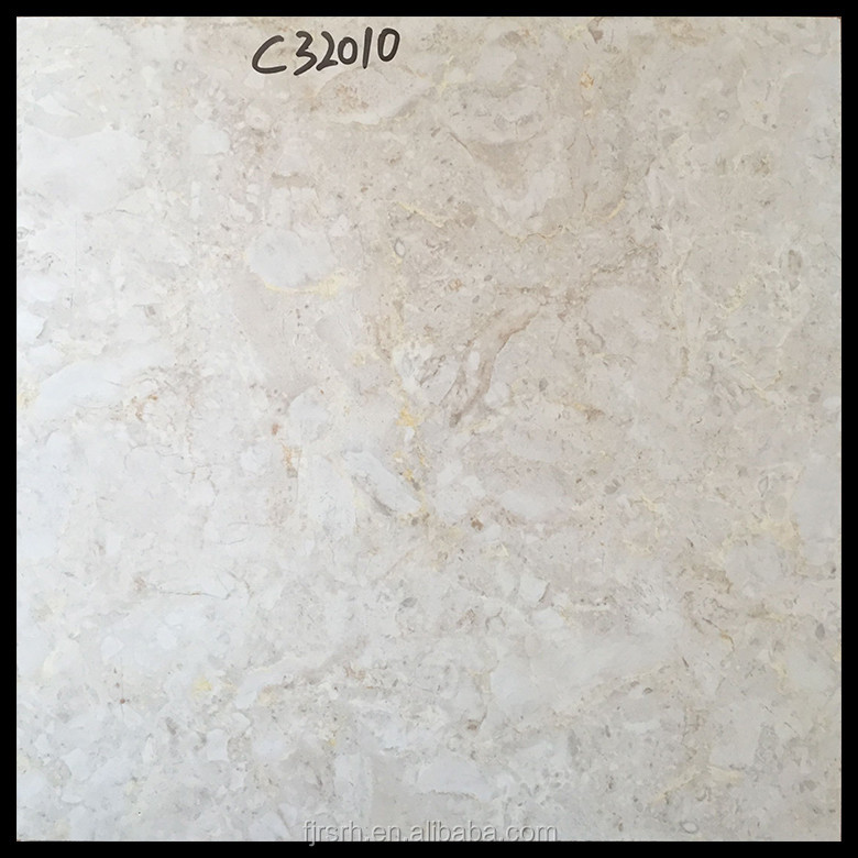 cream-coloured double loaded marble floor and wall porcelain tiles