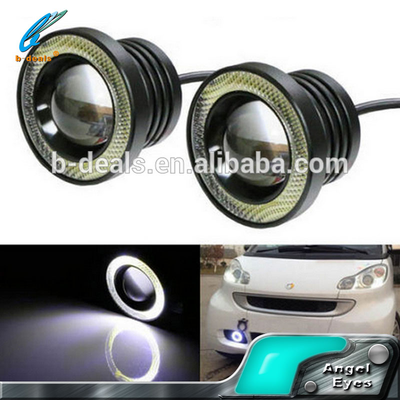 Universal auto fog lamp COB led angel eyes fog lamp car waterproof fog light