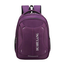 Wholesale purple cheap cute hot selling nylon waterproof laptop backpack for teens college girls