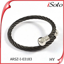 Costume jewelry hong kong stainless steel expandable bracelet mens cable wire bracelet