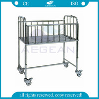 AG-CB005 CE ISO metal frame stainless steel patient hospital adult baby bed