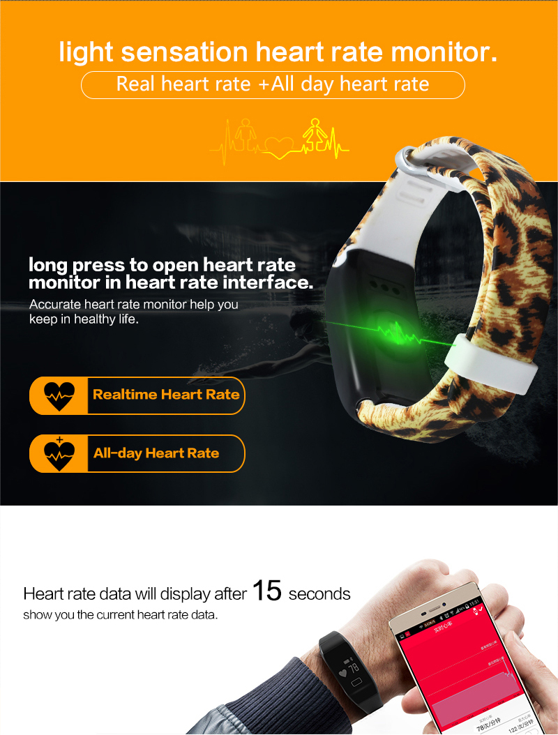 Heart Rate Monitor Smart Bracelet H5 Waterproof Fitness Sleep Tracker Smart Watch Sport Bracelet