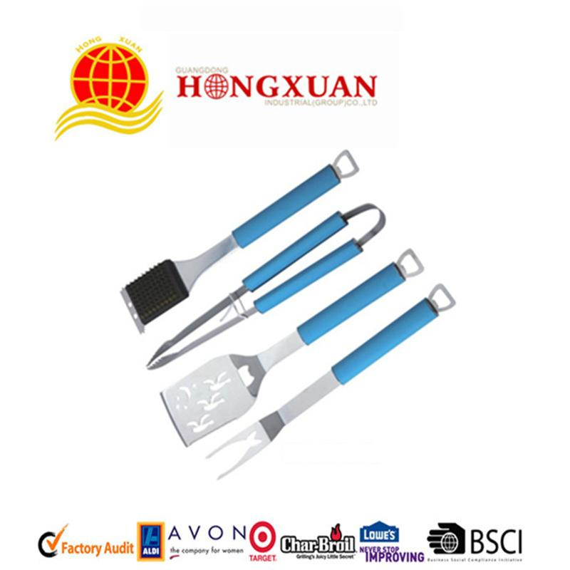wholesale bbq grill tools with cool touch handle
