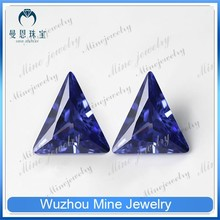 tananite color loose gems stoned triangle shape cubic zircon man made gem