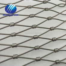 Flexible woven zoo mesh fence X-TEND wire rope mesh stainless steel 316 wire rope mesh