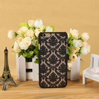 Black Flower Phone Case PC Matte Case Mobile Phone Case for iPhone 6/6Plus