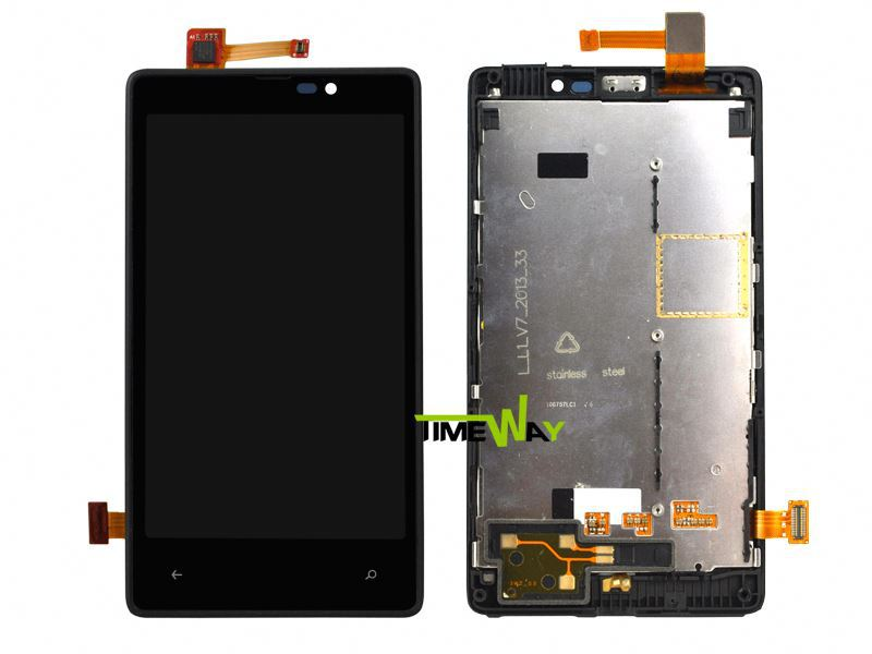 China Alibaba full lcd display+touch screen touchscreen digitizer+frame for nokia lumia 820