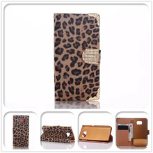 Fashion Light Brown Wallet Leather Case for samsung galaxy s6, leather Case for Samsung New Galaxy Mobile Phone