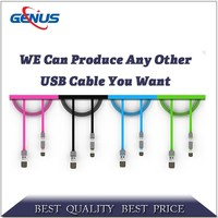 Leading design usb charging cable data line 2 in 1 usb cable for mobile phone hot selling in 2016
