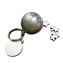Magnetism puzzle keychain Magnetism puzzle globe keychain metal globe keychain for promotional with low order minimum