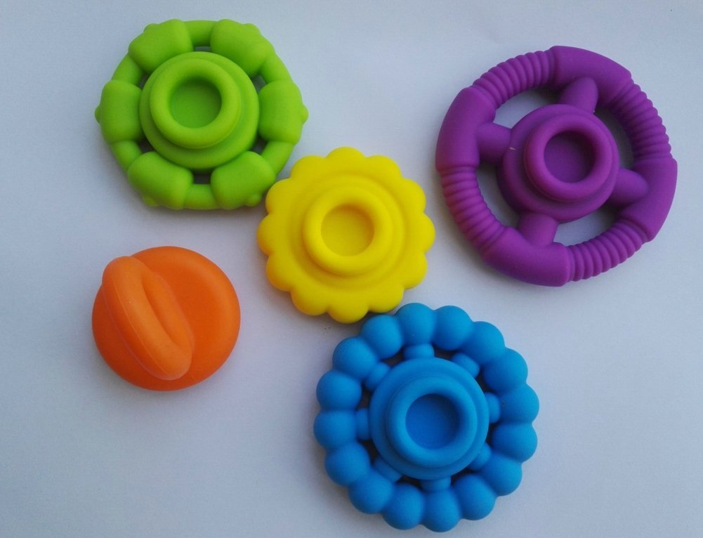 5 PC Silicone Stackers /Ring Toy for Baby Teether, Factory Supplier Directly, Exist Mould