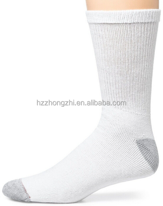 Size 6-12 white hanes socks cushion crew mens hanes socks