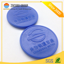 Smart Hard Plastic ABS RFID Token for Metro
