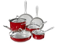 10pcs stainless steel high temperature colorful painting cookware set
