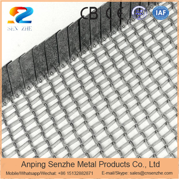 good air permeability stainless steel honeycomb wire mesh conveyor belt driven by chain