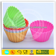 food grade flower shaped silicone bakeware cupcake