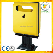 commercial outdoor public street square metal garbage waste bin