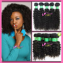 XBL Natural unprocessed virgin malaysian afro curl hair with natual color, can be dyed 1303