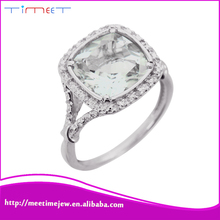 Wholesale women fashion jewelry 925 sterling solitaire diamond ring