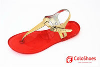 Hot selling jelly pvc latest ladies shoes 2012